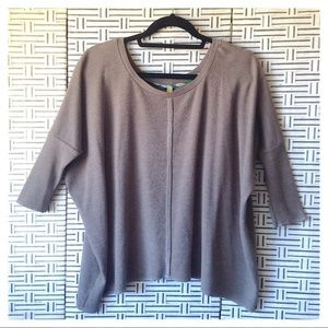 Free People Dolman Sleeve Waffle Knit Thermal Top